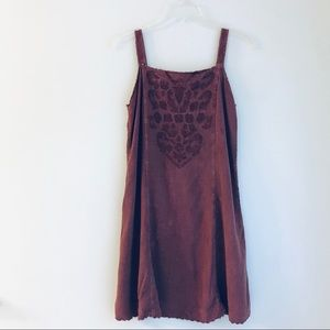 Dresses & Skirts - Short Burgandy Free Size Dress With Tie Back